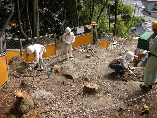 滝町遺跡上段調査開始