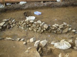 石積みの溝